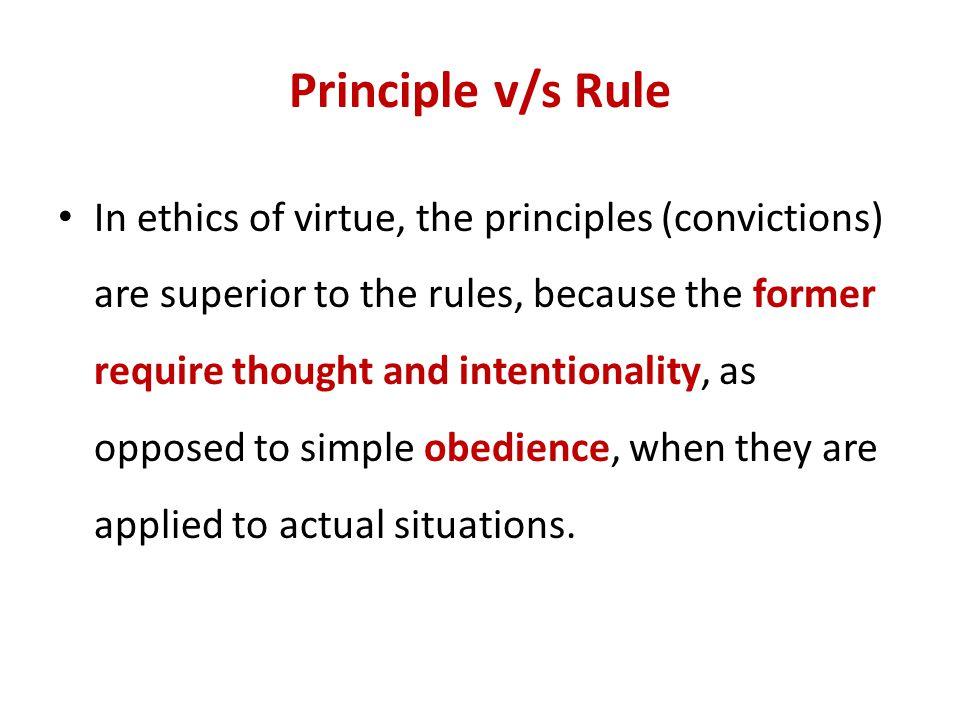 Principle v/s Rule