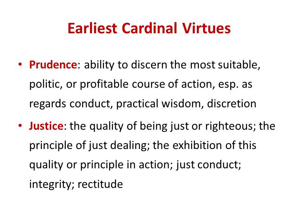 Earliest Cardinal Virtues