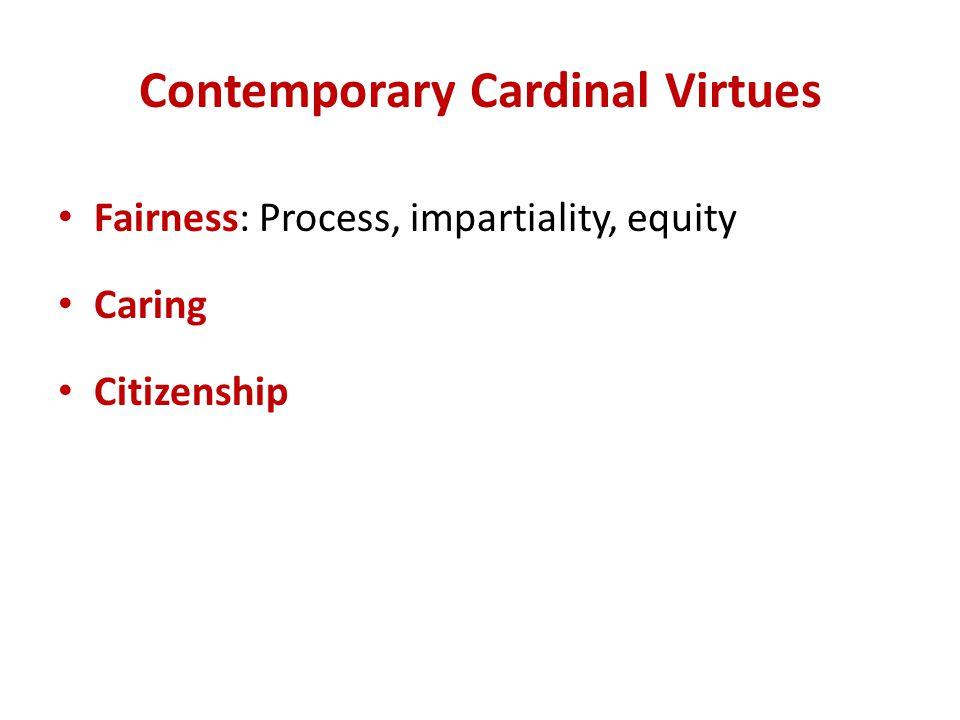 Contemporary Cardinal Virtues