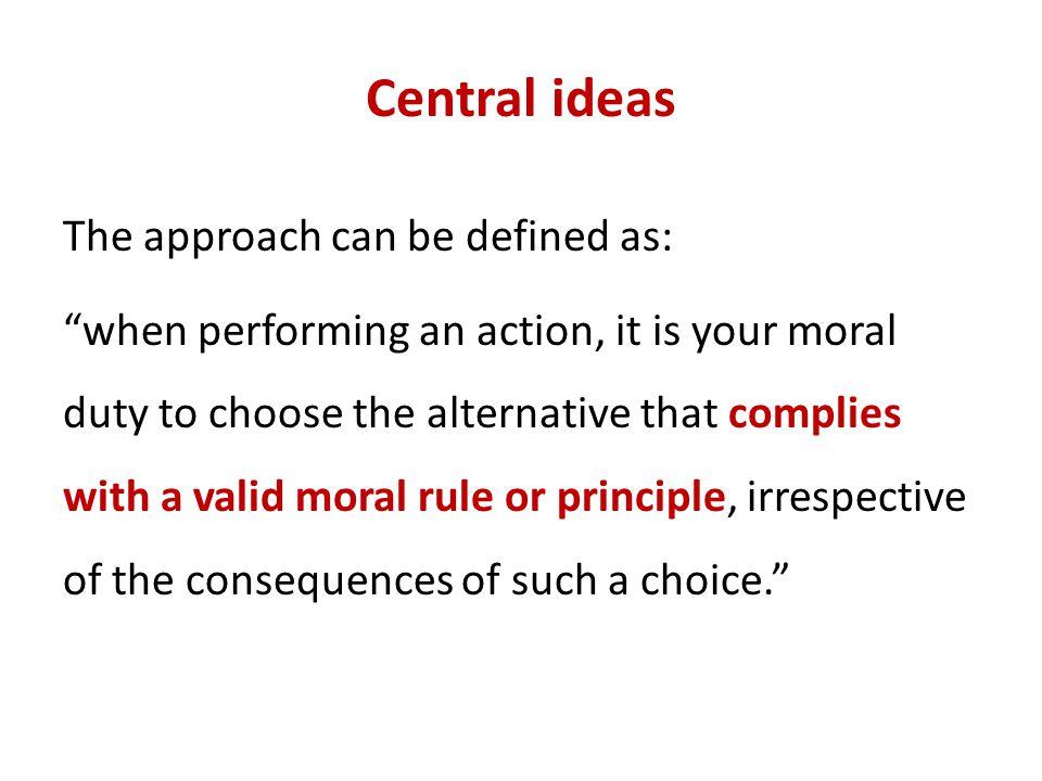 Central ideas