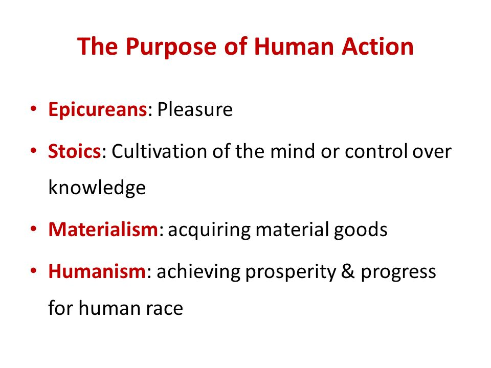 The Purpose of Human Action