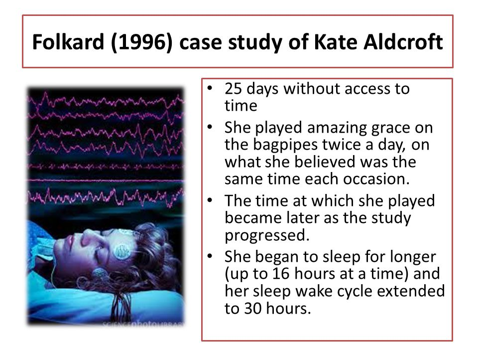 Folkard (1996) case study of Kate Aldcroft