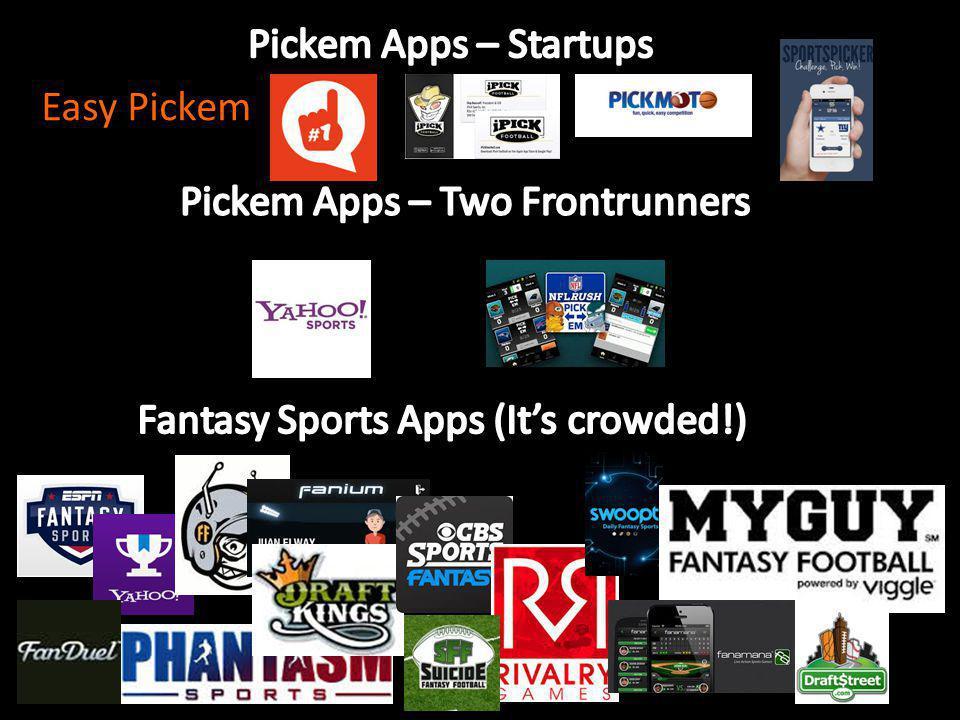 Pickem Apps – Startups Easy Pickem. Pickem Apps – Two Frontrunners.