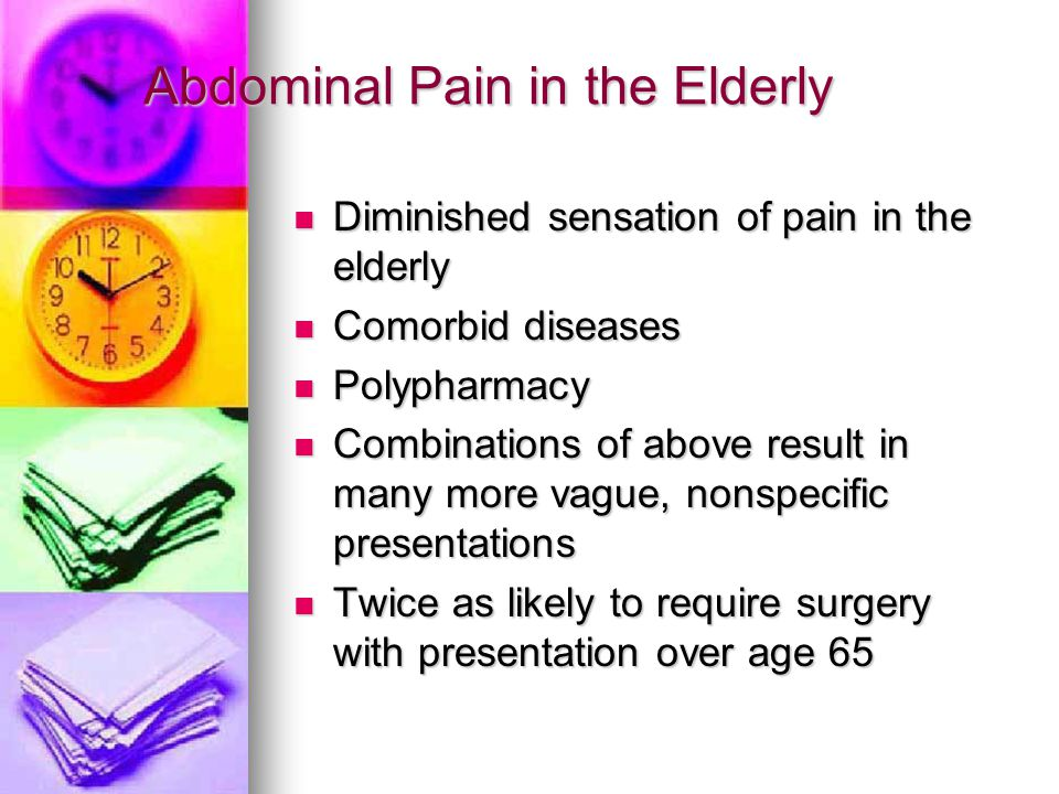 Abdominal Pain in the Elderly