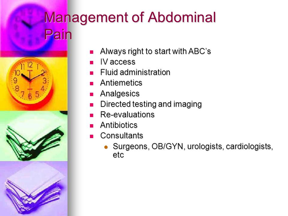 Management of Abdominal Pain