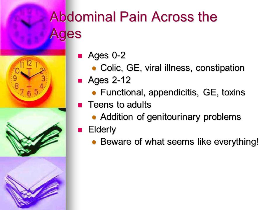 Abdominal Pain Across the Ages