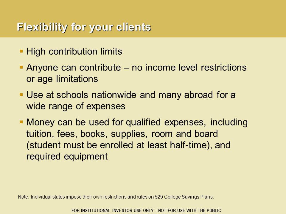 Flexibility for your clients