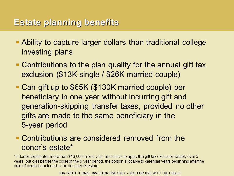 Estate planning benefits