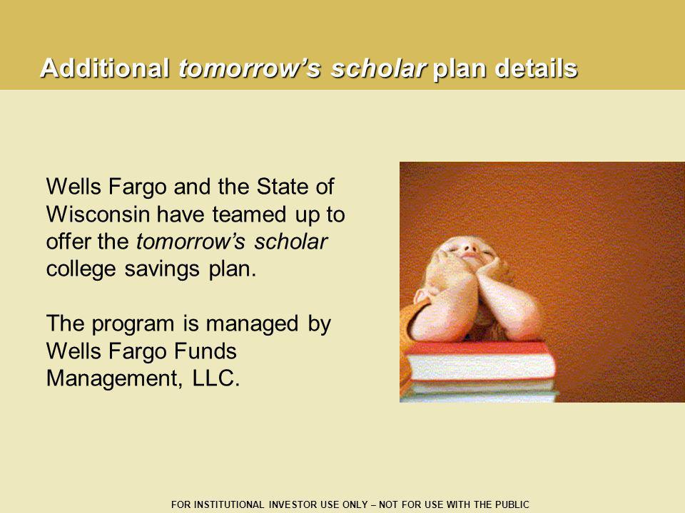 Additional tomorrow's scholar plan details