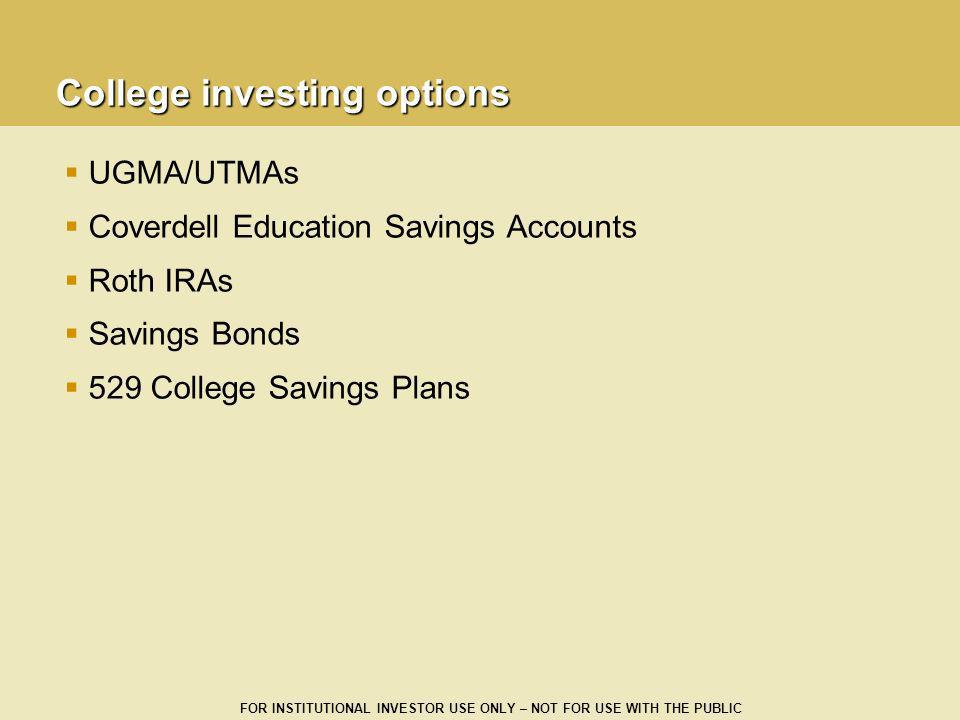 College investing options