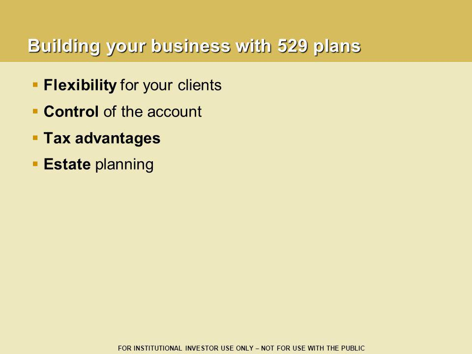 Building your business with 529 plans