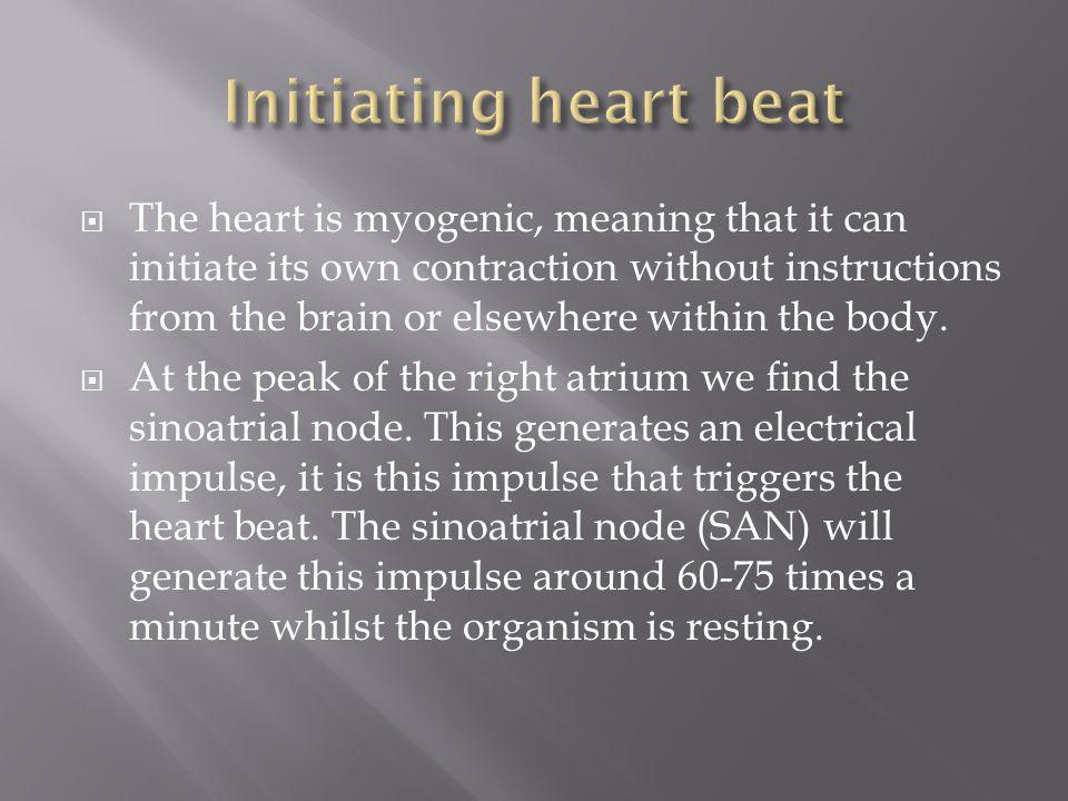 Initiating heart beat