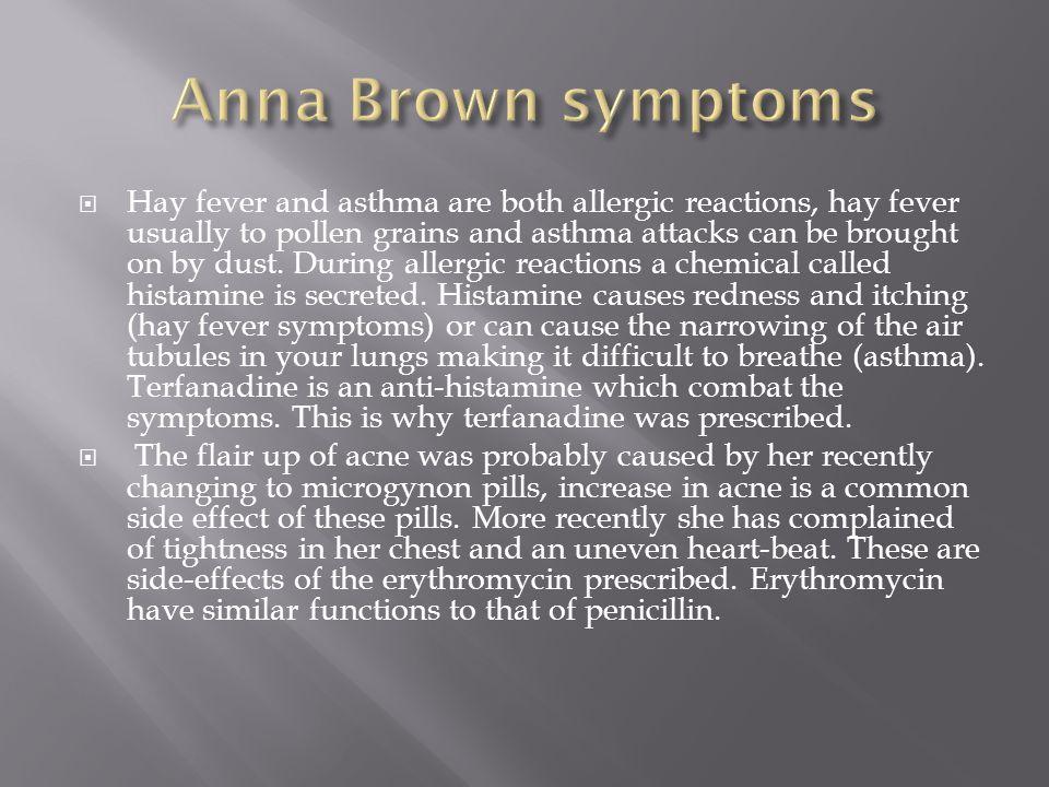 Anna Brown symptoms