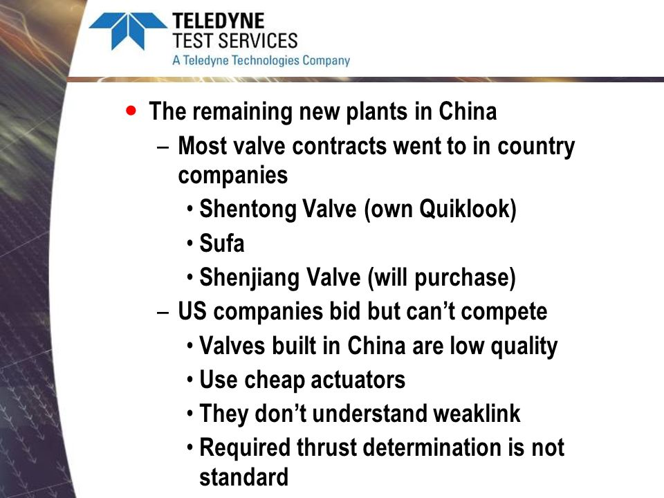 The remaining new plants in China