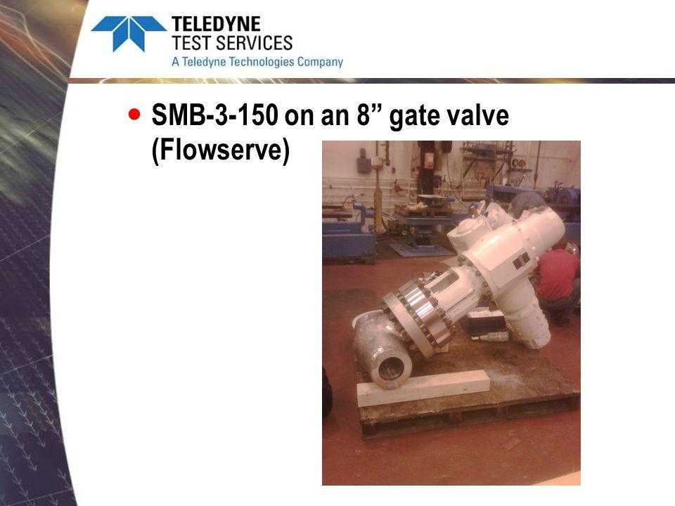 SMB-3-150 on an 8 gate valve (Flowserve)