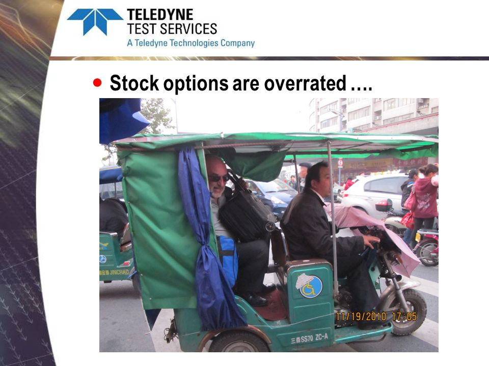 Stock options are overrated ….