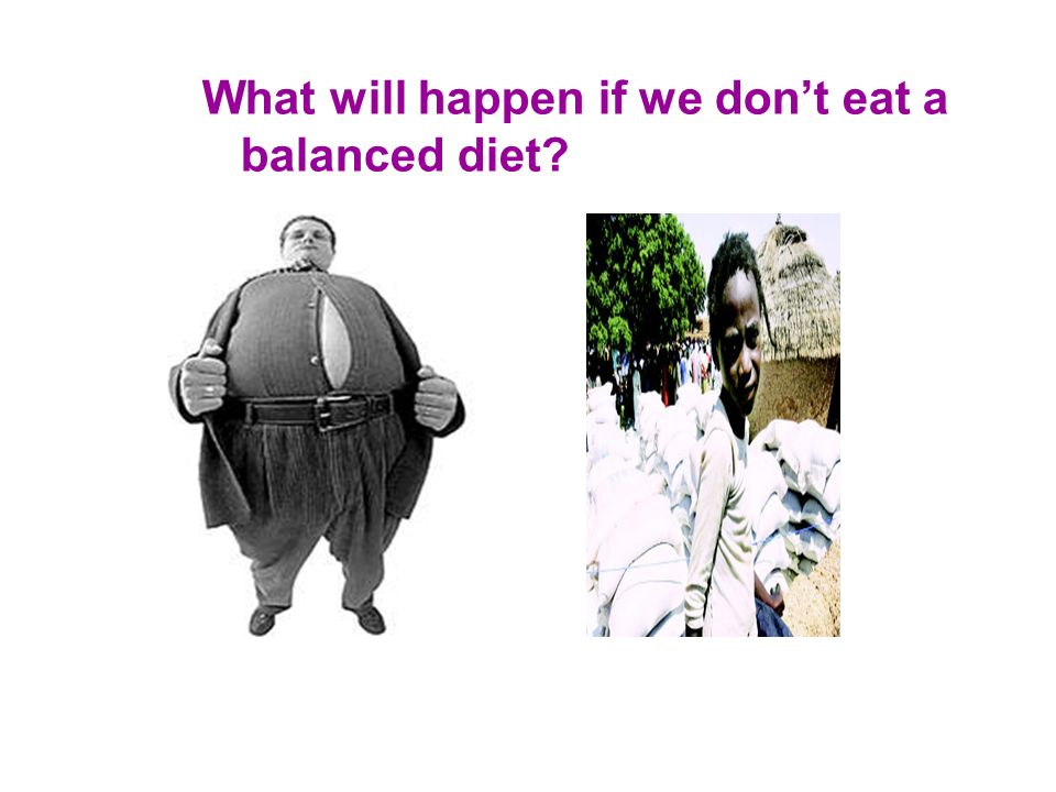 What will happen if we don't eat a
