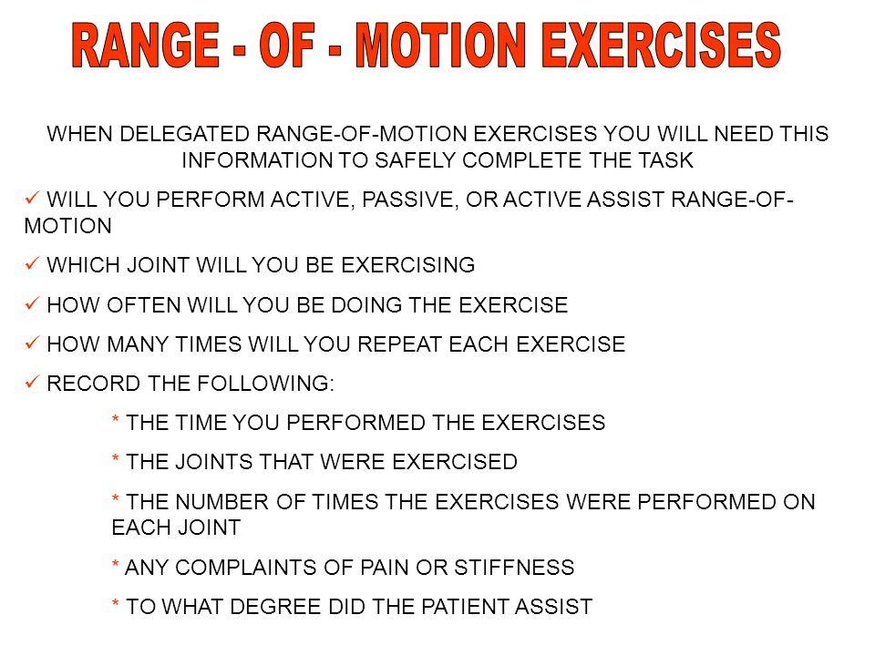RANGE - OF - MOTION EXERCISES