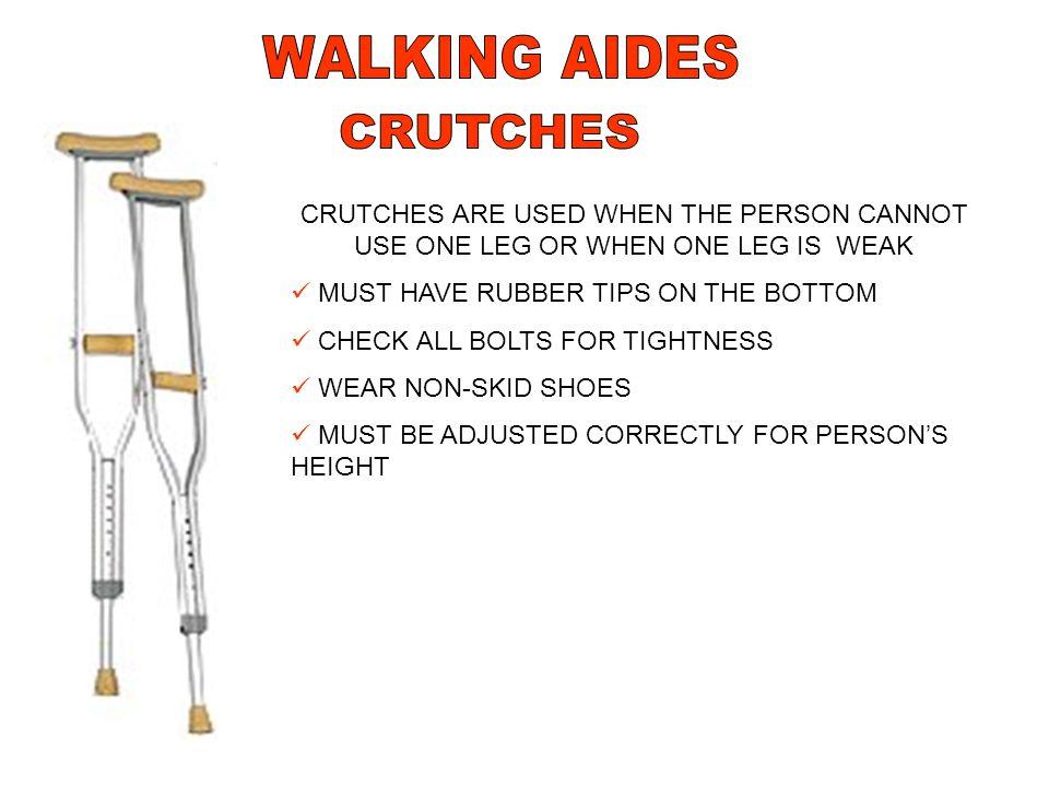WALKING AIDES CRUTCHES