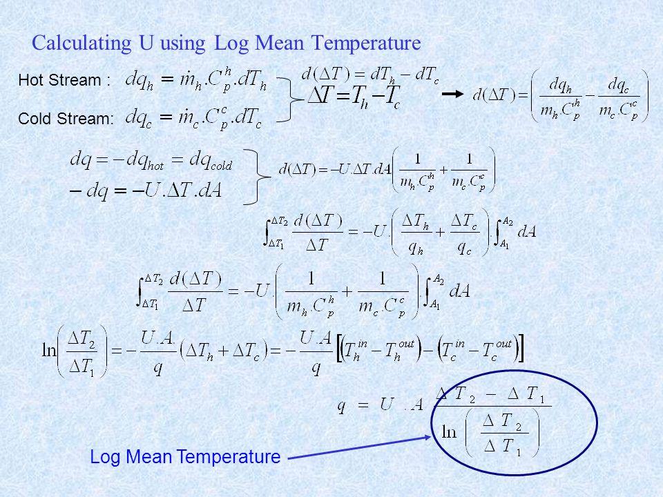 Calculating U using Log Mean Temperature