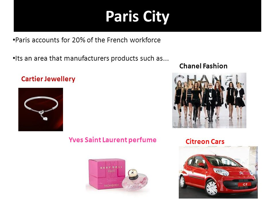 Paris City Paris accounts for 20% of the French workforce