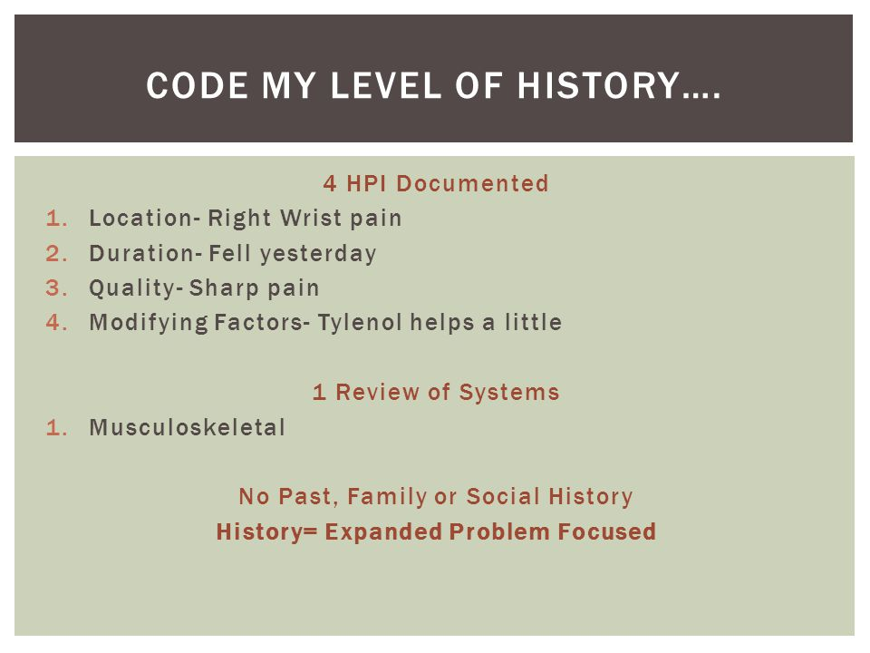 Code my level of history….