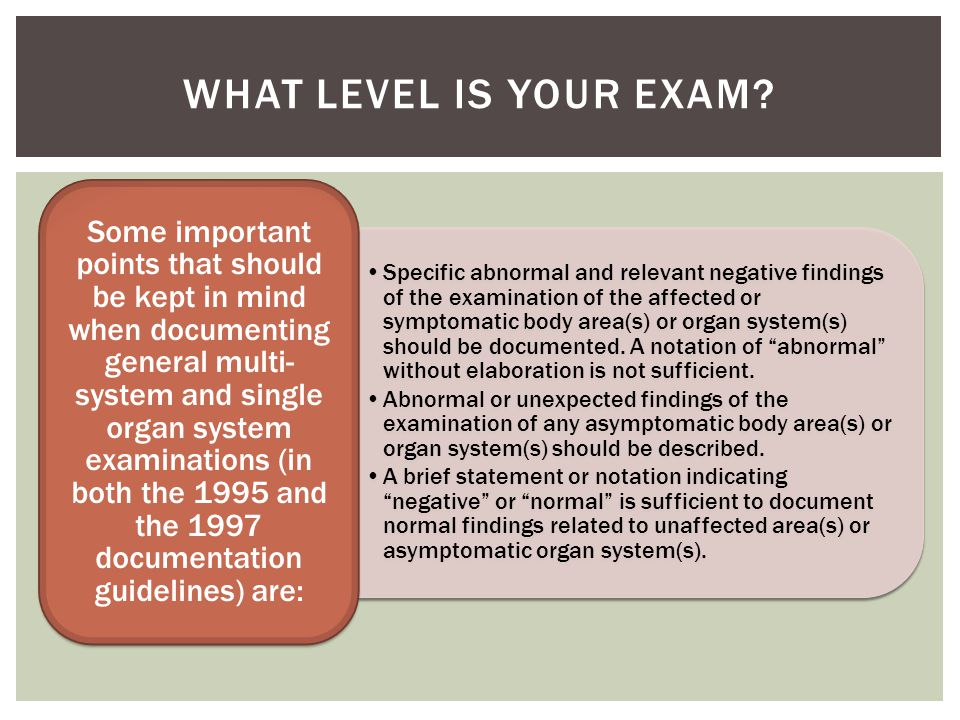 What level is your Exam
