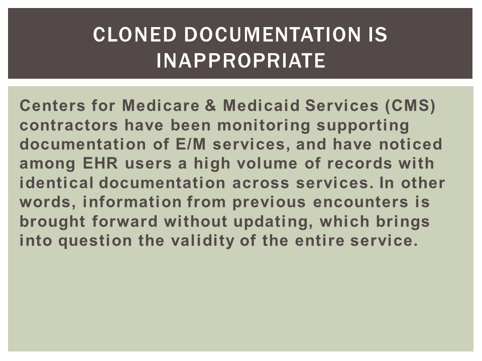 Cloned Documentation is Inappropriate