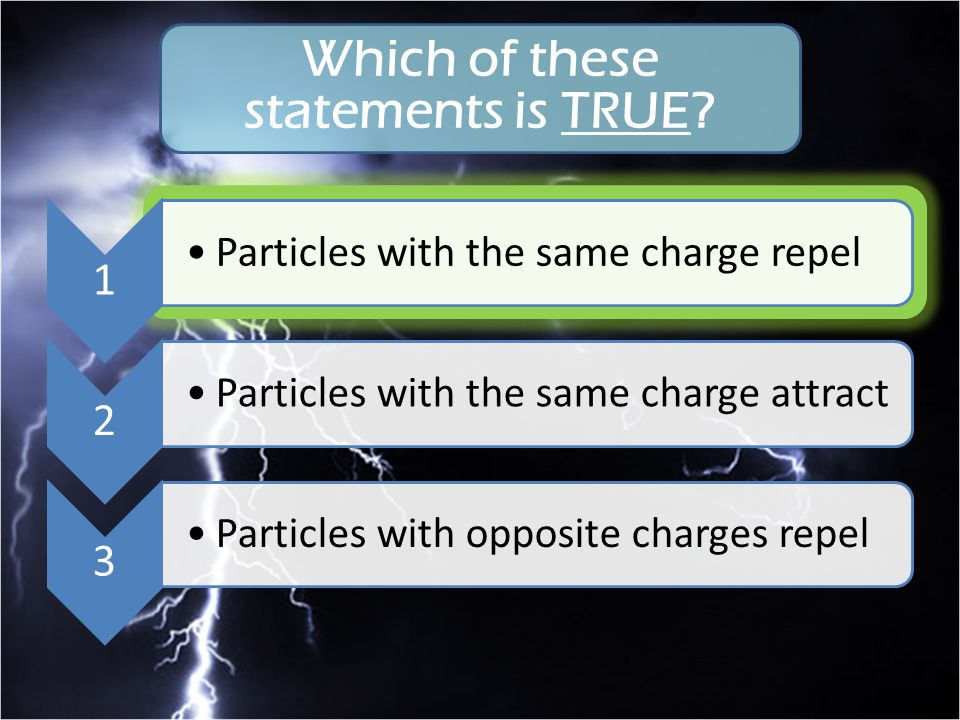 Which of these statements is TRUE