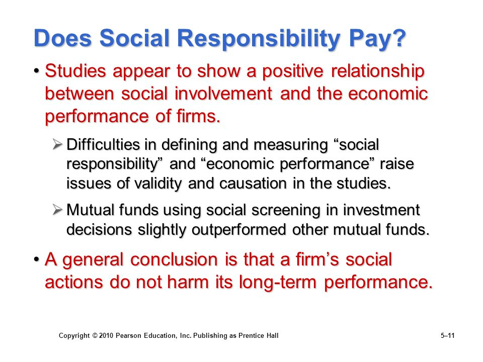 Does Social Responsibility Pay