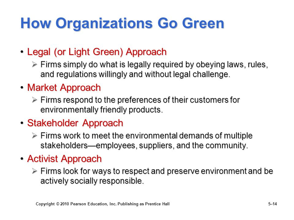 How Organizations Go Green