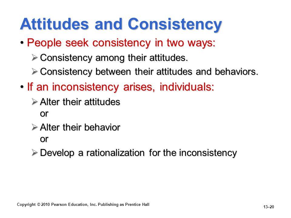 Attitudes and Consistency