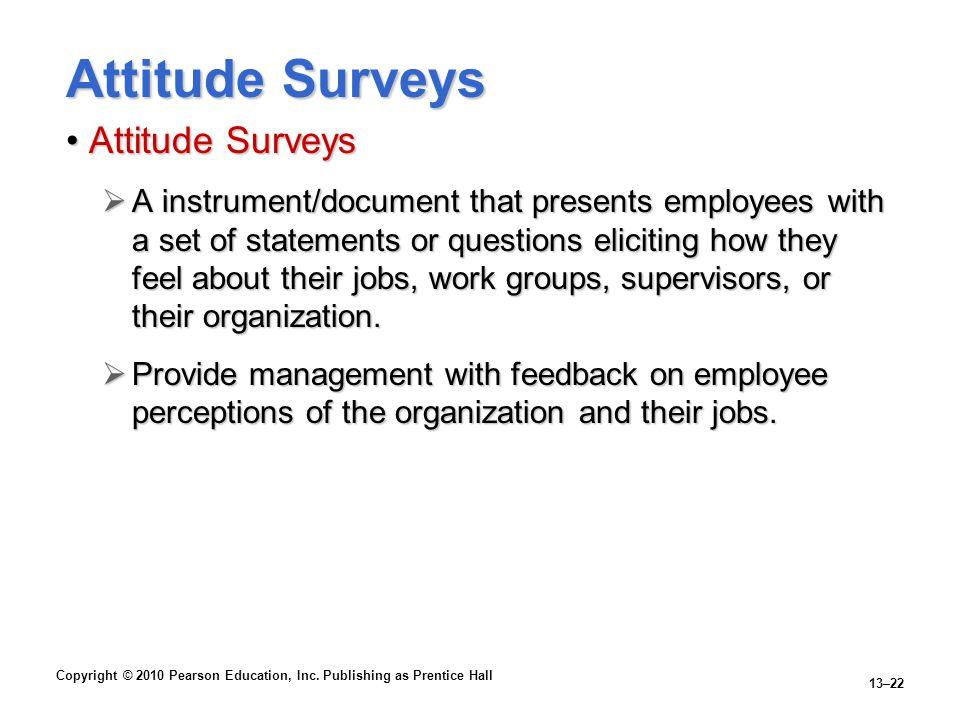 Attitude Surveys Attitude Surveys