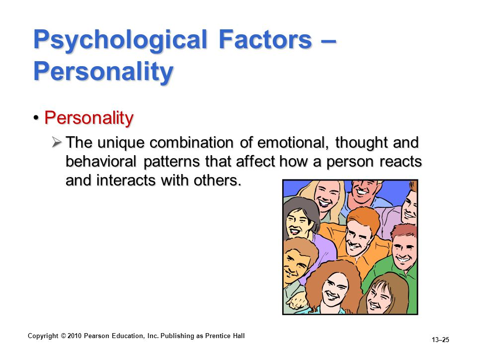 Psychological Factors – Personality