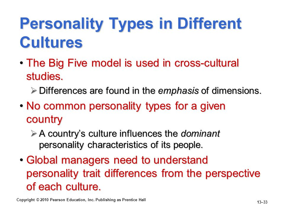Personality Types in Different Cultures