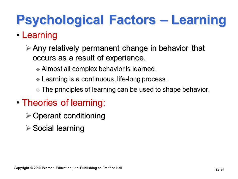 Psychological Factors – Learning