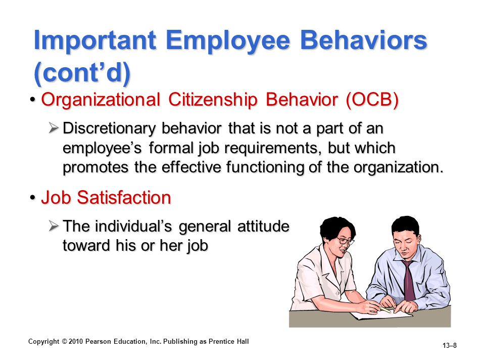 Important Employee Behaviors (cont'd)