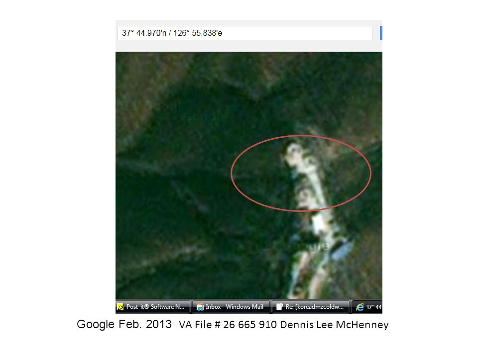 Google Feb. 2013 VA File # 26 665 910 Dennis Lee McHenney