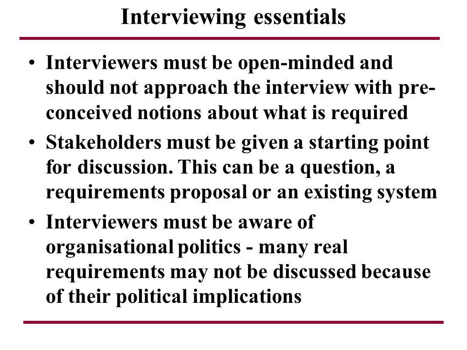 Interviewing essentials