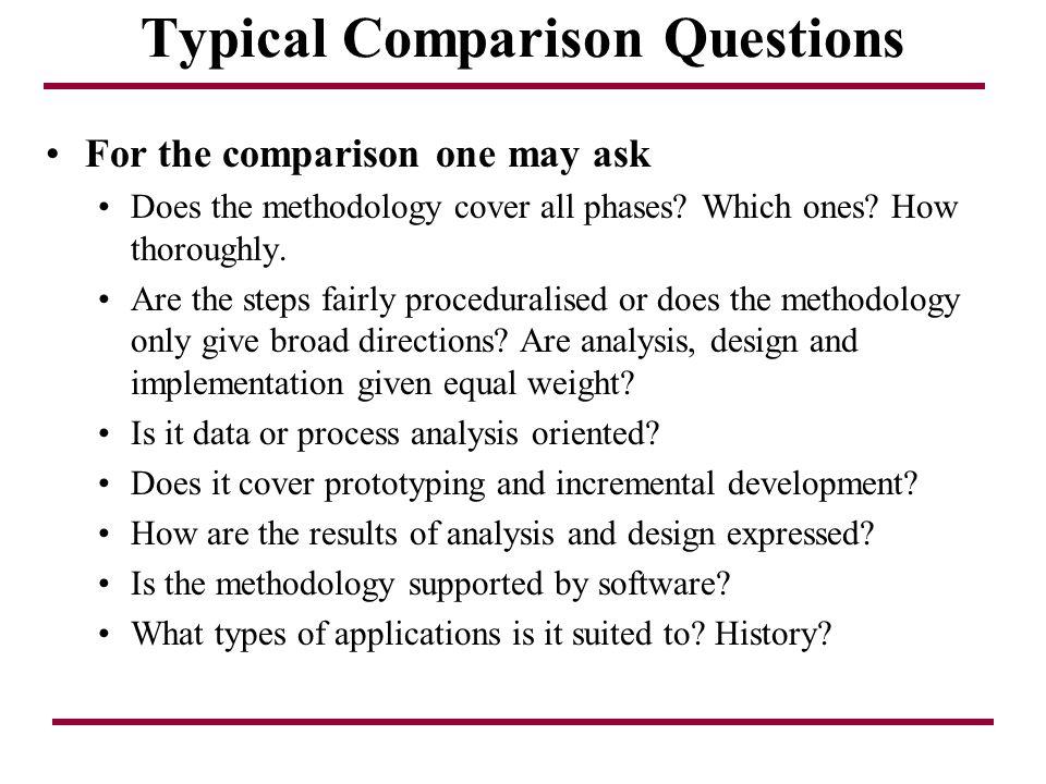 Typical Comparison Questions