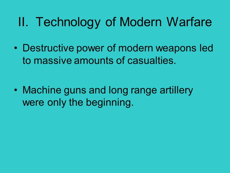 II. Technology of Modern Warfare