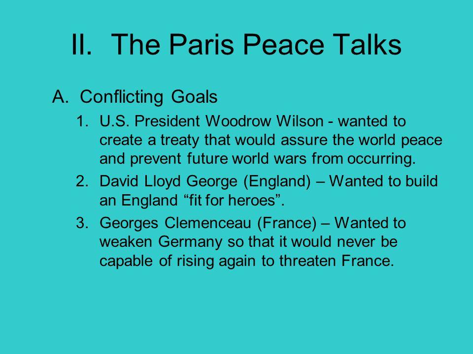 II. The Paris Peace Talks