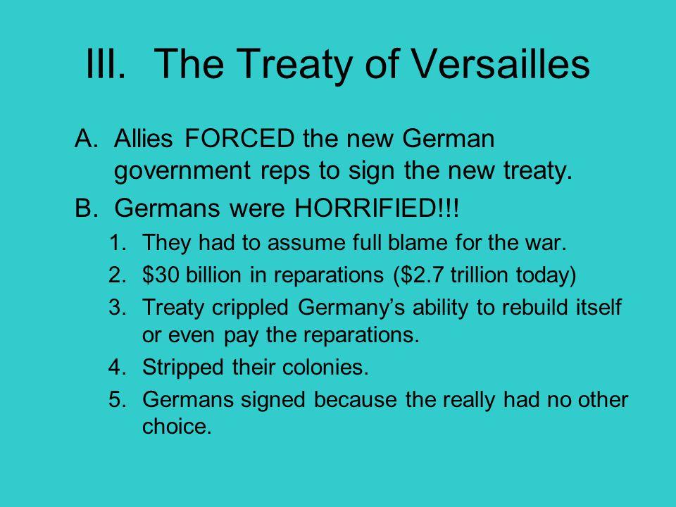 III. The Treaty of Versailles