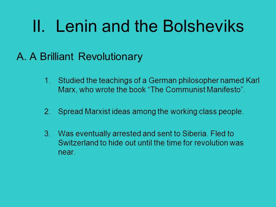 II. Lenin and the Bolsheviks