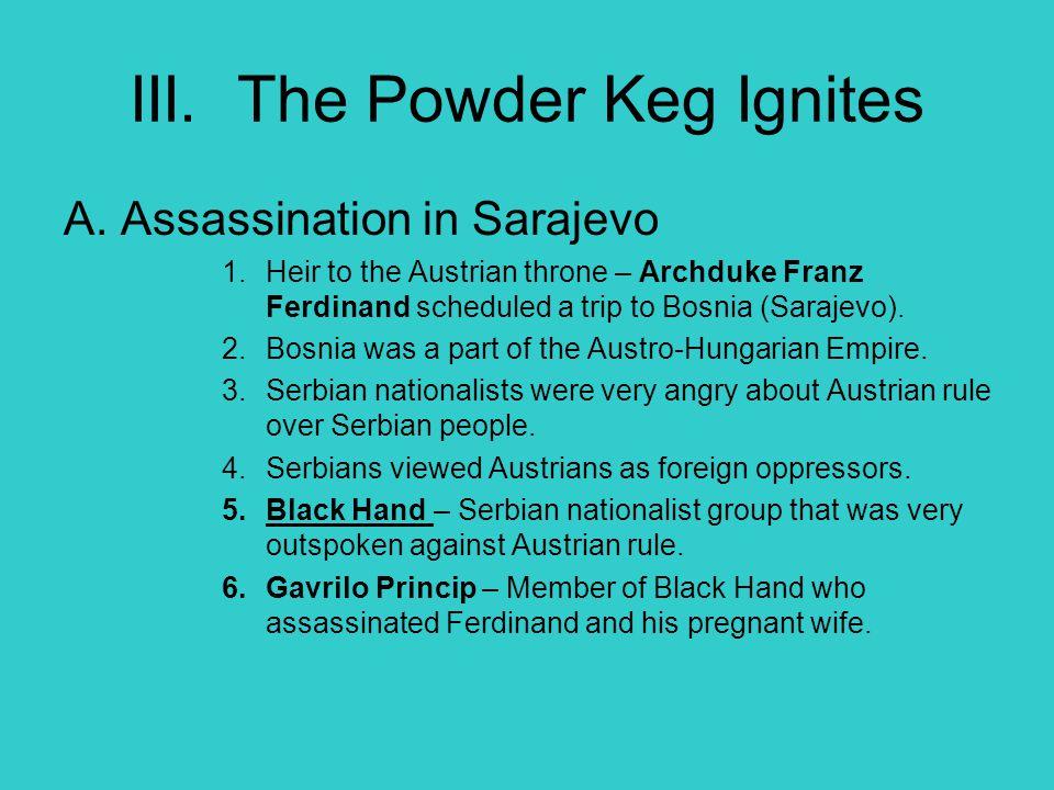 III. The Powder Keg Ignites