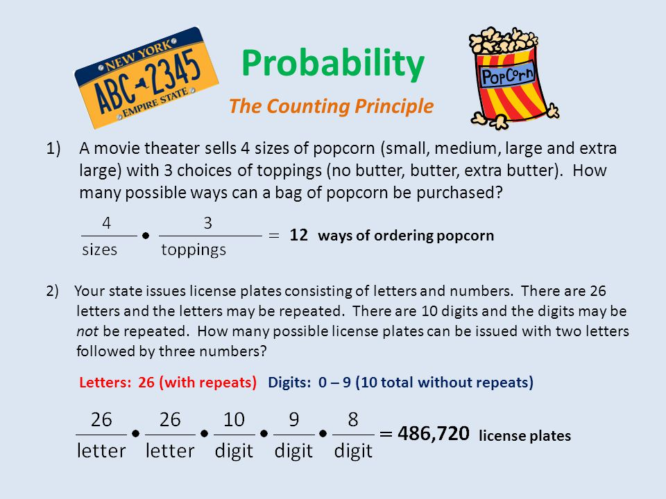 Probability The Counting Principle