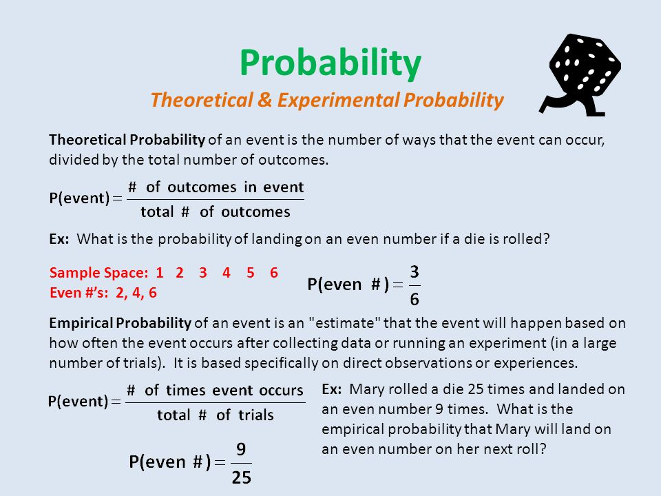 Probability Theoretical & Experimental Probability