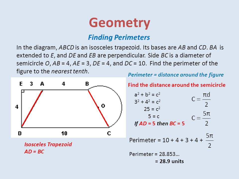 Geometry Finding Perimeters