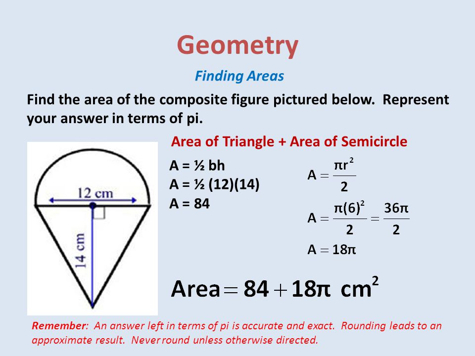 Geometry Finding Areas