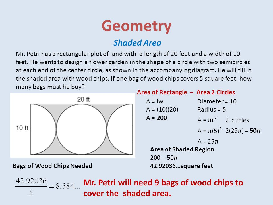 Geometry Shaded Area.
